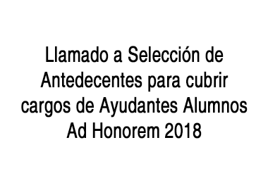 Llamado Ayudantes Alumnos 2018_Cartel